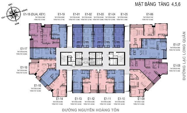 Mặt bằng tầng 4,5,6 dự án D'el Dorado Premium