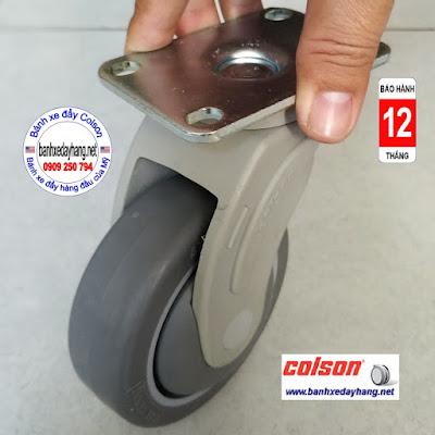 Bánh xe cao su di động Colson phi 100 x 32mm - 4 inch | STO-4856-448 www.banhxedayhang.net