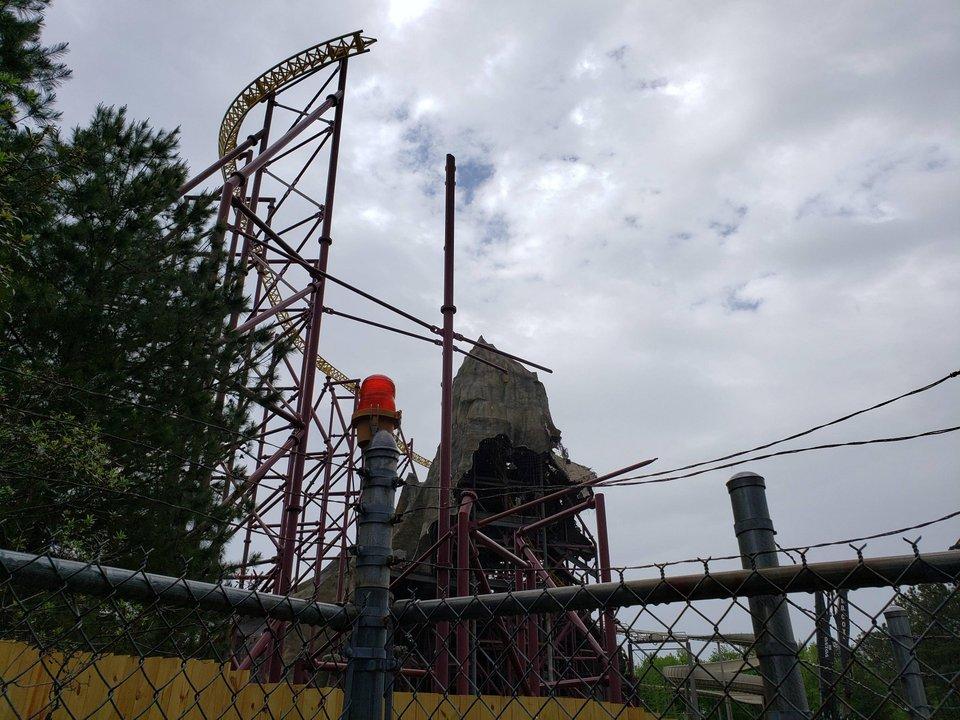 Volcano Demolition Plus Future Teasing Begins - AmusementInsider