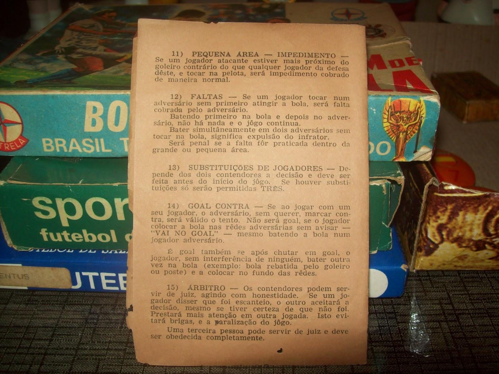 117eae10f5 Botões para Sempre  Regras para Futebol de Botão da Estrela - 1960´s