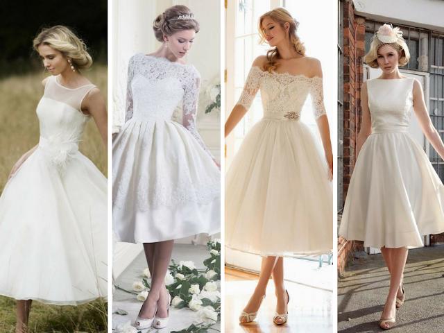 Vestidos de noiva midi
