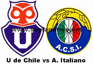 Partido U de Chile vs Audax Italiano 2016
