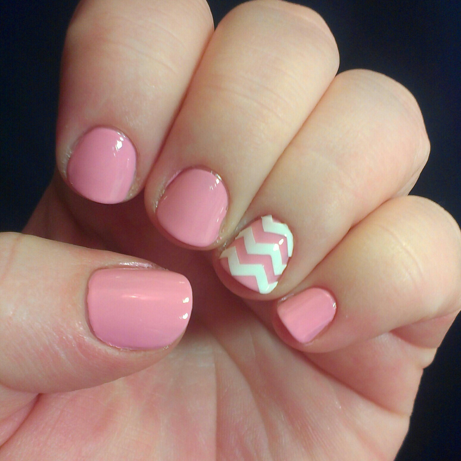 Swatch Out!: NOTD Opi Pink Friday and chevron strips!