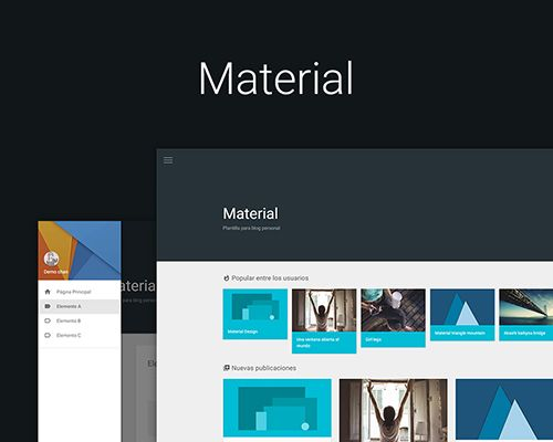 Material – plantilla personal responsive, blogger