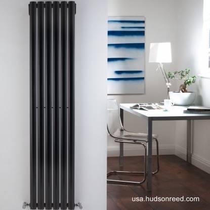 Radiador de calefacción moderno vertical color negro