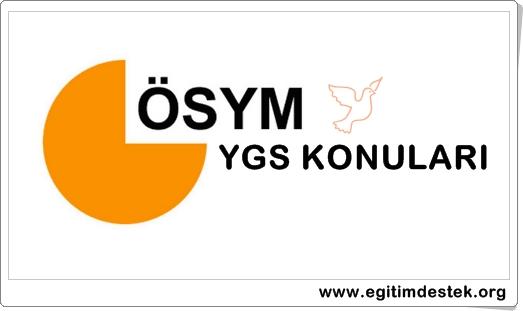 YGS Coğrafya Konuları