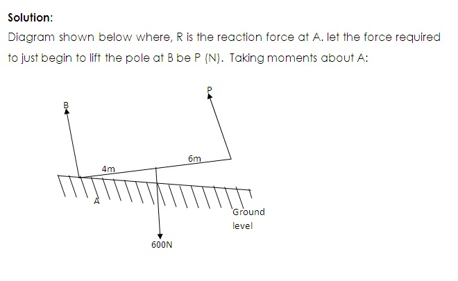 Conditions of equilibrium under the action of parallel