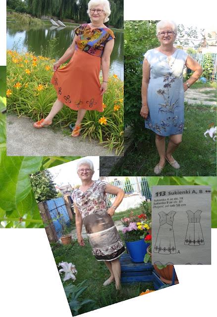 Trzy sukienki z jednej formy.Jak przygotować aplikacje?Co uszyć na wakacje dziewczynce?