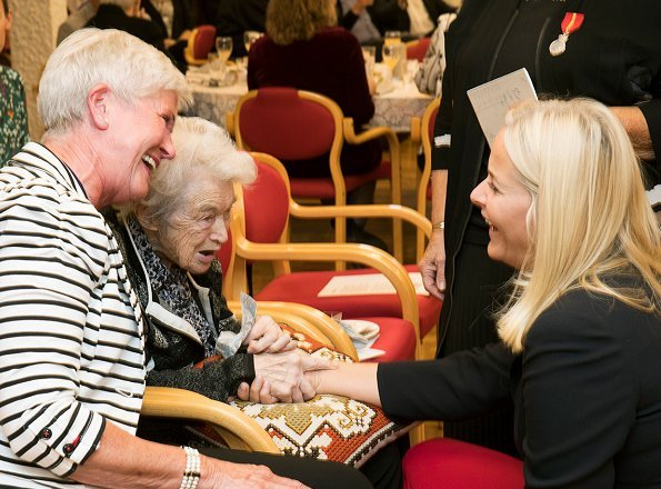 Crown Princess Mette-Marit visited Volunteers Corps which celebrates its 10th anniversary in Ovre Eiker
