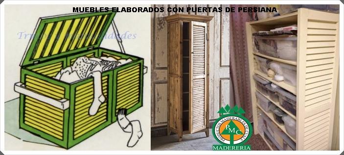 Productos Maderables de Cuale: IDEAS PARA REUTILIZAR PUERTAS DE REJILLA