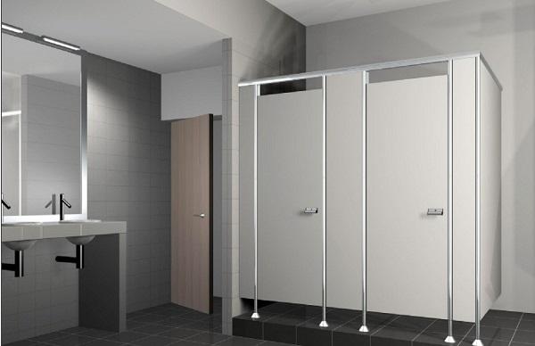 Những tấm vách ngăn vệ sinh nhỏ gọn có thể kiến tạo không gian nhà vệ sinh công cộng một cách khoa học và đẹp mắt
