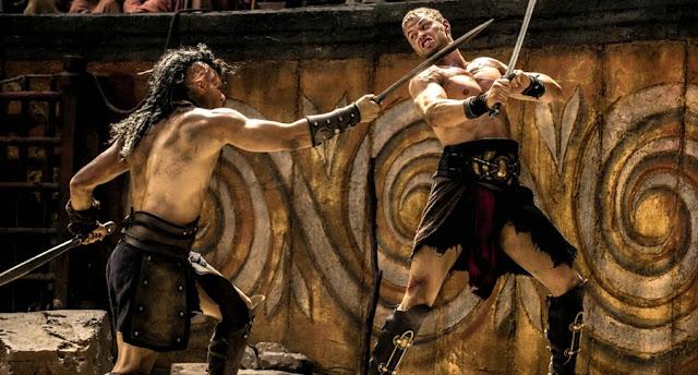 Kellan Lutz luptă în arena gladiatorilor din filmul The Legend Of Hercules