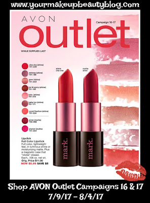 Shop Avon Outlet Campaigns 16/17 Good Through 8/4/17. While Supplies Last!
