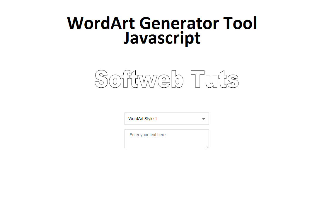 WordArt Generator Tool - Javascript
