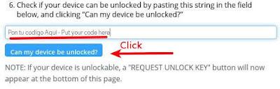 Seccion de la pagina de Motorola en donde se ingresa el codigo para que te envien el codigo de desbloqueo del bootloader.