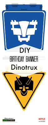 free Dinotrux birthday party printables