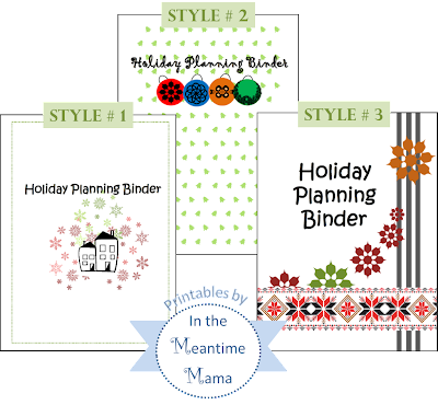 Holiday Planning Binder Christmas Title Pages