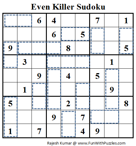 Even Killer Sudoku (Daily Sudoku League #72)