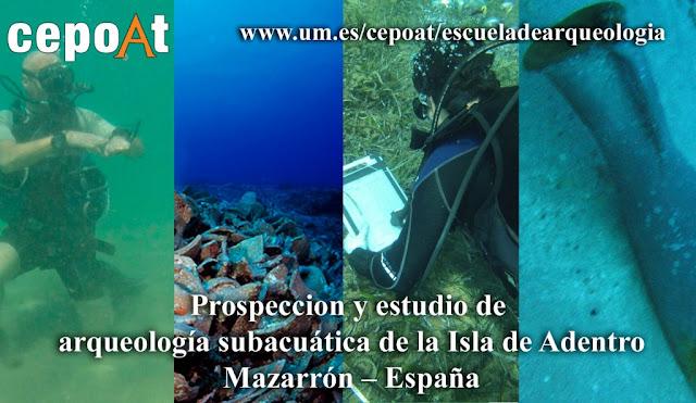 Prospección y estudio de arqueología subacuática de la Isla Fenicia de Adentro – Mazarrón – España (3 de septiembre al 17 de septiembre 2017)
