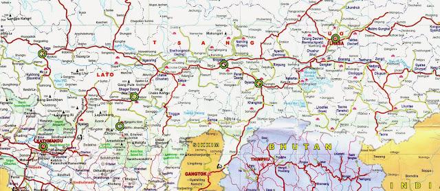 Mapas da região de Catmandu – Nepal