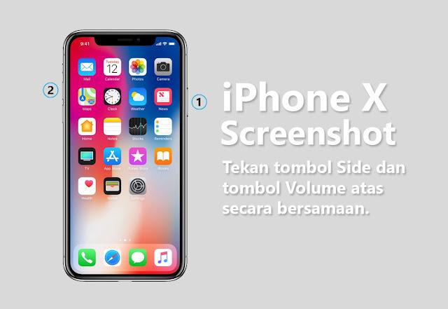 Cara Baru Mengambil Screenshot di iPhone 8 dan X