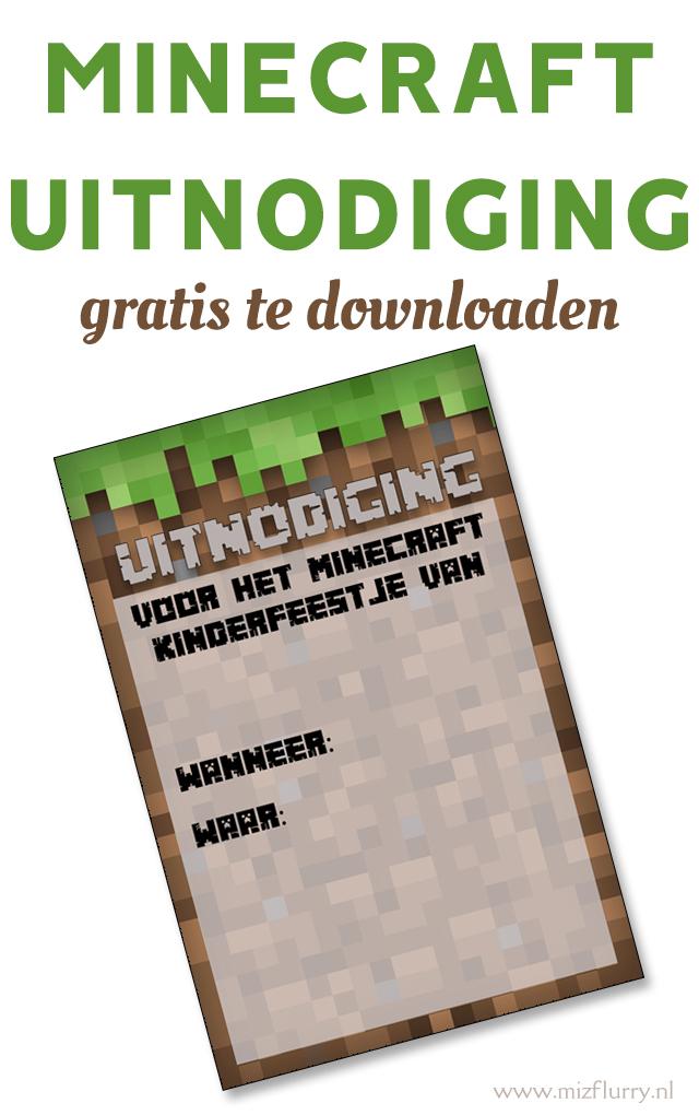 minecraft uitnodiging verjaardag kinderfeestje pinterest