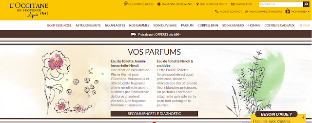 Diagnostic parfum l'Occitane