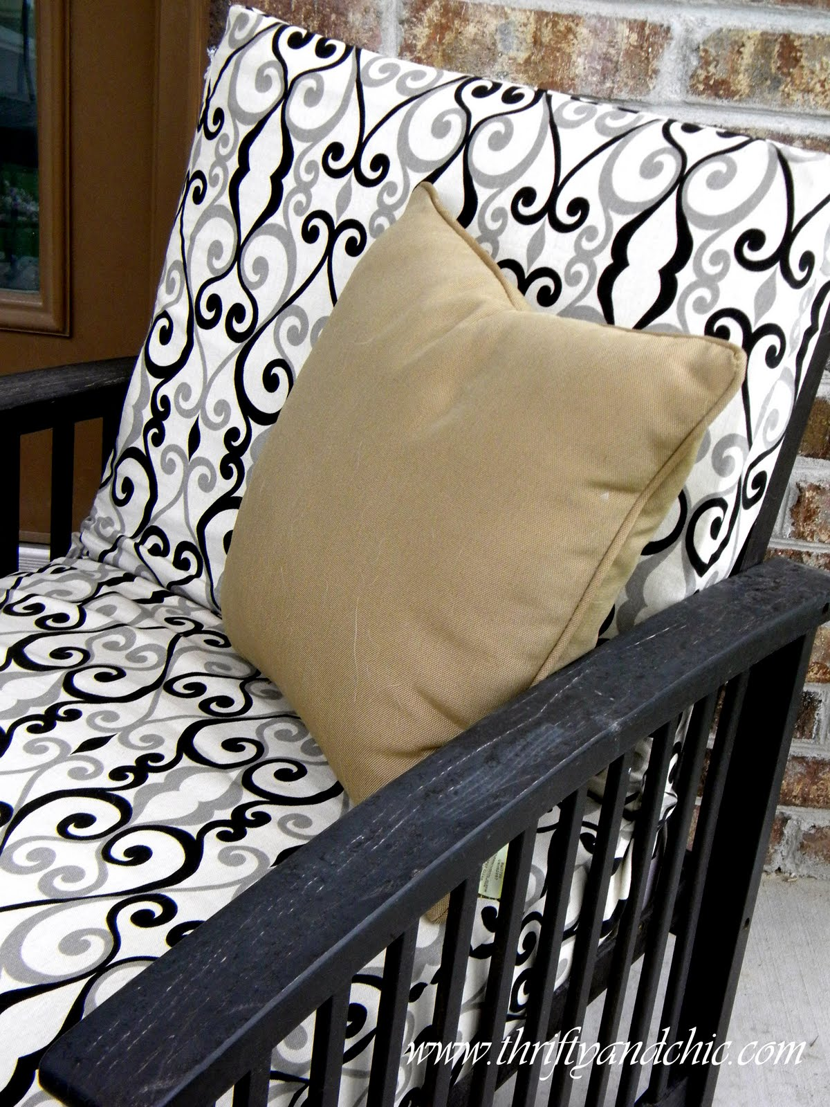 diy outdoor chair cushion covers ja spa thrifty and chic projects home decor