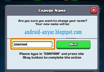 Trik mengubah ganti nama akun Clash Royale di level 1 2 3