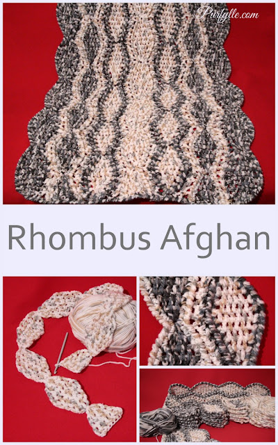rhombus (diamond) crochet afghan
