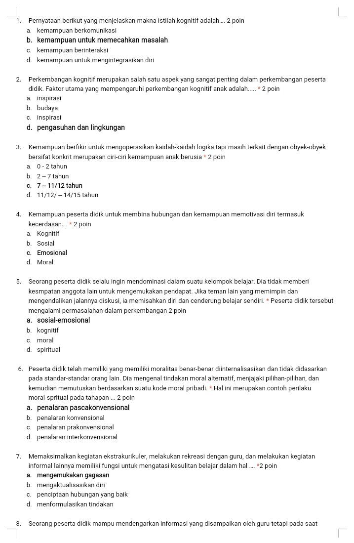 Download Contoh Soal Ukg Guru Sd : download, contoh, Contoh, Kelas, Seputaran