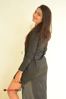 Actress Neha Deshpande Pictures in Black Short Dress at Bullet Movie Opening  0022