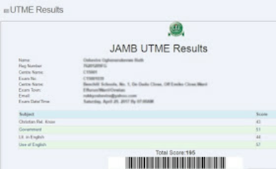 Jamb 2019 result,  2019 Jamb result,  Jamb result 2019