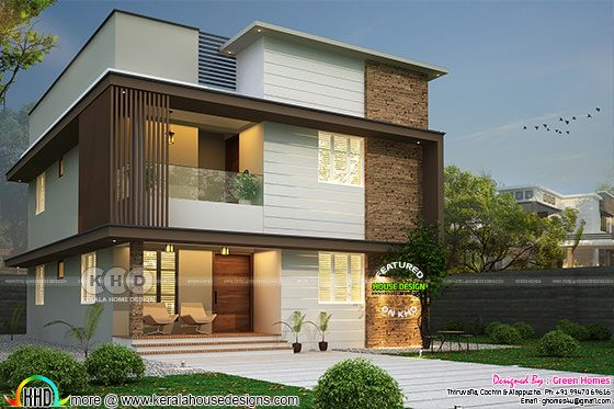 Modern house 2200 sq-ft with 4 bedrooms