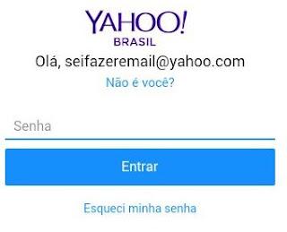 Como logar no email Yahoo