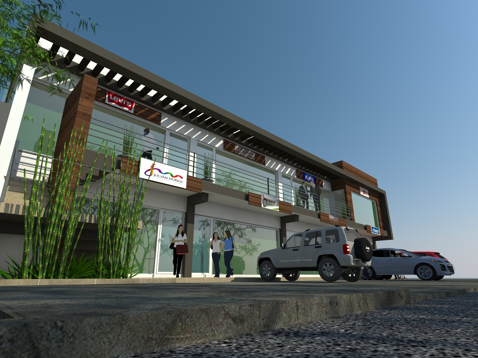 Arquitectura martin abel locales comerciales r g san for Local arquitectura