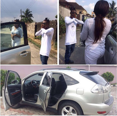 Upcoming musician almosts faints after girlfriend buys him a car