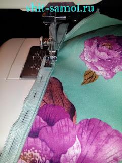 Втачивание молнии в боковой шов платья