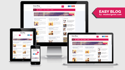 Easy Blog - Responsive Blogger Template
