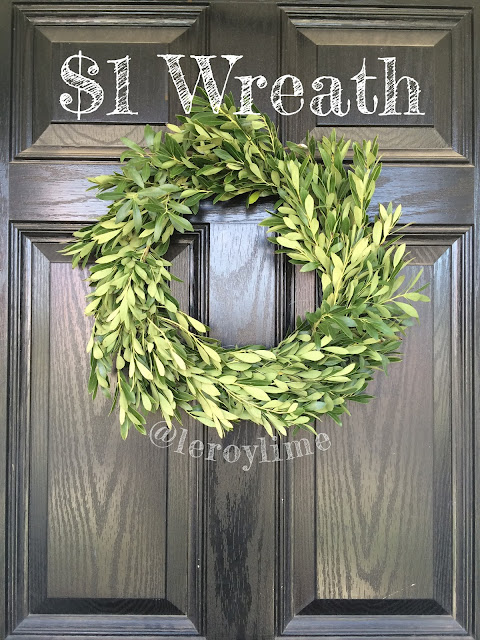 $1 Wreath - using yard waste - LeroyLime