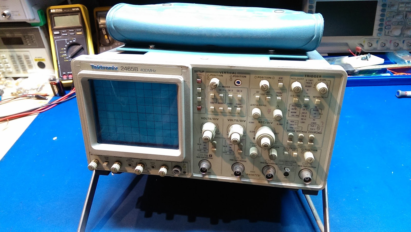 playing with bits: Tektronix 2465B Capacitor Replacement and