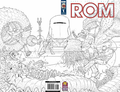 San Diego Comic-Con 2016 Exclusive ROM #1 Gatefold Black and White Variant Cover C by Nick Pitarra