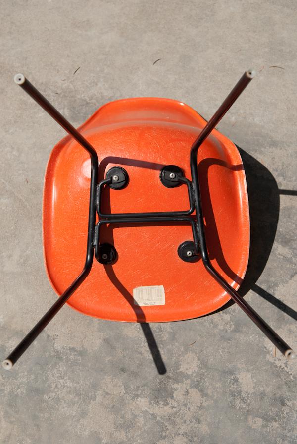 heygreenie: Vintage HERMAN MILLER Orange Fiberglass EAMES ...