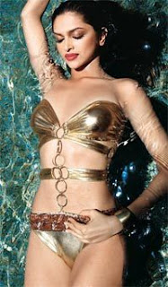 Deepika Swimming In Bikini 1