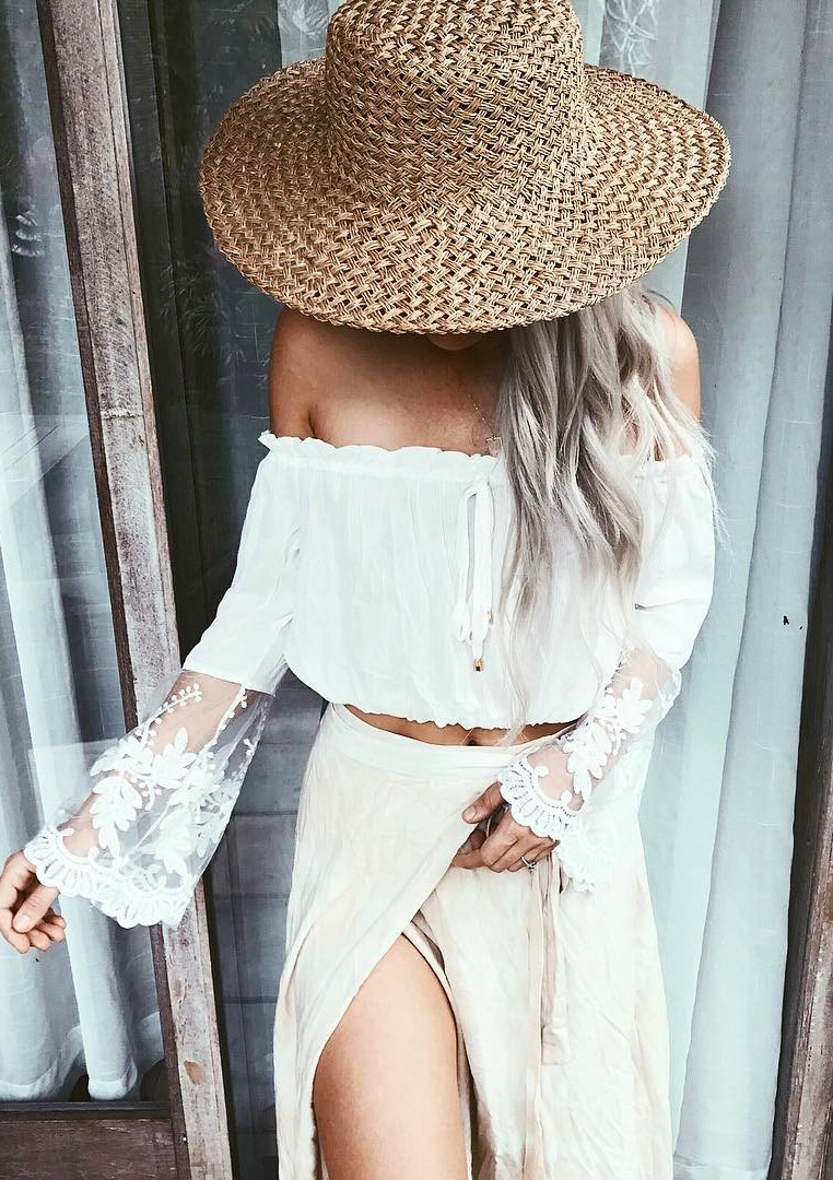 amazing white set + hat