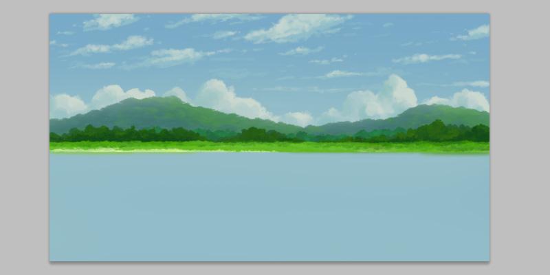 lake reflection tutorial