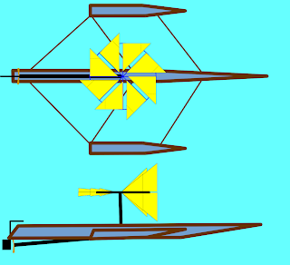 Wind turbine boat 2.