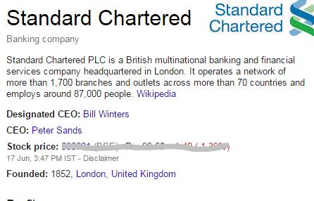 standard chartered bank call center