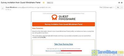 Undangan survey online dari paid survey Quest MindShare | SurveiDibayar.com