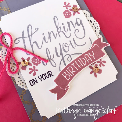 Stampin' Up! Hostess Set, Time of Year, Birthday Card created by Kathryn Mangelsdorf